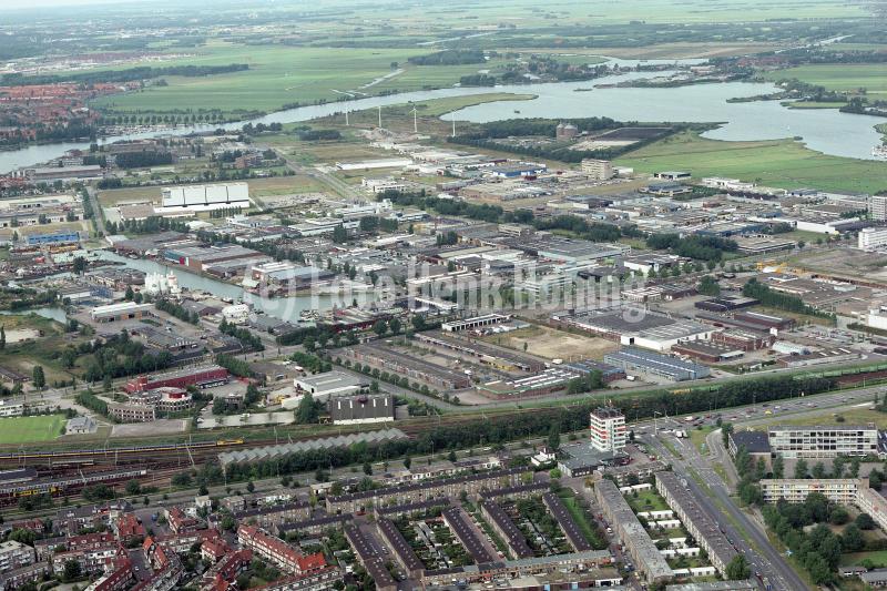 Haarlem Waarderpolder overzicht richting noord Spaarndam 1989 lfh 89082509