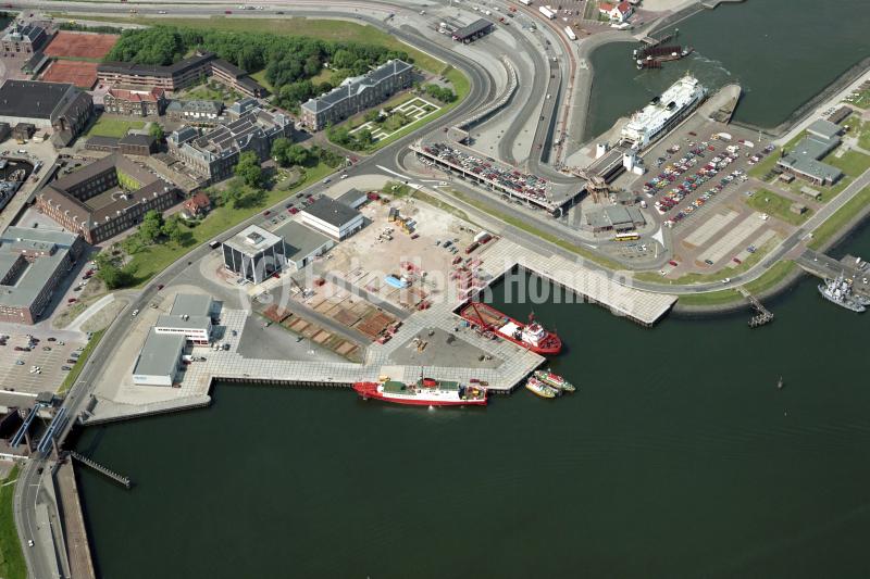Denhelder Paleiskade offshore haven boot Texel 1990 lfh 90052309