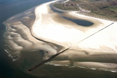 Texel vuurtoren Cocksdorp met land aanwas 2000 lfh 00081274