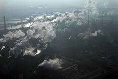 IJmuiden Steel Clouds Wolken boven de Hoogovens Corus Tatasteel 2002 lfh 021209049-099