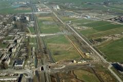 Beverwijk Heemskerk Broekpolder bouw viaduct laan der Nederlanden Belgiestraat 2003 lfh 040220050-035