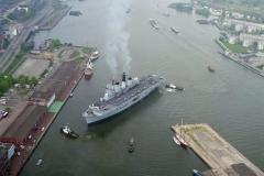 Amsterdam haven HMS Invincible PTA lokatie 1996 lfh 96060313-020