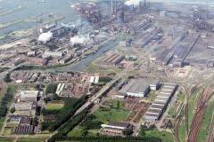 Velsen-Noord Hoogovens overzicht richting zee 1988 lfh 88060328