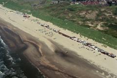 Wijk aan Zee strand Instuif  WRB huisjes bad Zuid1988 lfh 88070728