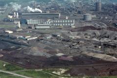 Wijk aan Zee Hoogovens Heckett terreinOxy staal fabriek 2 overzicht richting staalhaven 1988 lfh 88070731