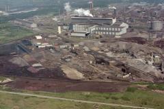 Wijk aan Zee Hoogovens Heckett terreinOxy staal fabriek 2 overzicht richting Noord-Oost walserijen 1988 lfh 88070734