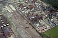 Wijk aan Zee Hoogovens ketenpark contracters terrein Nilo 1988 lfh 88070926