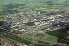 Beverwijk overzicht richting Noord-Oost industrie terrein haven Parallelweg meubelboulevaar 1988 lfh 88070952