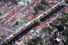 Alkmaar Centrum Oudegracht Laat 1988 lfh88071217