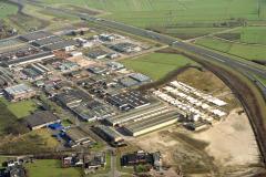 Vianen industrie terrein overzicht Langedreef Tuynmanweg Binderijgroep 1989 lfh 89021631