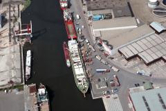Beverwijk Haven Daalimpex schepen laden aardappels 1989 lfh 89042728