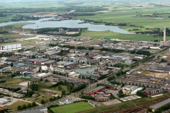 Haarlem Waarderpolder overzicht richting noord Spaarndam 1989 lfh 89082508