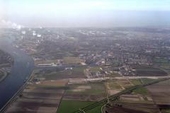 Beverwijk Noordzeekanaal Hoogovens havens centrum 1990 lfh 90031210