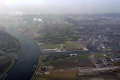 Beverwijk Noordzeekanaal Hoogovens havens centrum 1990 lfh 90031213