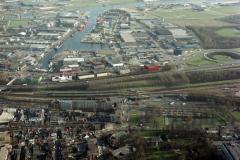 Beverwijk   Station met busstation  Akerendam haven de Pijp 1990 lfh 90031228