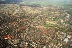 Beverwijk; Hoog; Overzicht; Wijkertoren; Alkmaarseweg; Stadskantoor; Alkmaarseweg.Heemskerk achtergrond 1990 lfh90031406