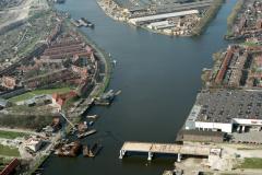 Zaandam bouw Den Uyl brug,Zaan,Haven 1990 lfh 90031446