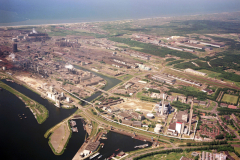 IJmuiden Velsen-noord Pen centrale Hoogovens  Cemij Mekog  Havens richting west  1990