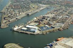 Ijmuiden,Havens, Vissershaven,Haringhaven,overzicht ,1990 lfh 90090413