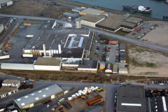 IJmuiden Industrie terrein strandweg Edivo eo 1991 lfh 91020627