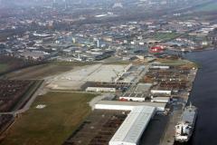 Velsen-Noord Beverwijk Zij kanaal A de Pijp Havens kaden Industrie terrein Velser terminal 1991 lfh 91032512