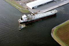 Velsen-noord Velserterminal Gear bulk schip draaien door sleepboten Goedkoop 1991 lfh 91032523