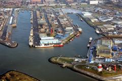 IJmuiden overzicht havens Zeehaven IJmuiden Vissershaven Haringhaven met insteek haven 1991 lfh 91032549