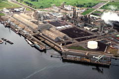 Rotterdam Europoort Petrochemie industrie terreinen bedrijven 1991 lfh 91062424