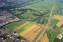 Beverwijk Overzicht Buitenlanden Fort Sint-Aagtendijk Aagten belt Broekpolderer 1991 lfh 91081422