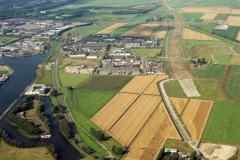 Beverwijk overzicht Fort Beverwijk Industrie terrein Beverwijk-oost aanleg tracee wijkertunnel 1991 lfh 91081638