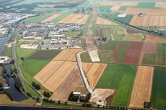 Beverwijk aanleg tracee Wijkertunnel industrie terrein Beverwijk-Oost 1991 lfh 91082705