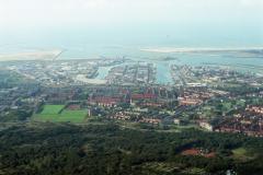 IJmuiden Velsen overzicht gemeente met havens IJmuiden en pieren 1991 lfh 91082764