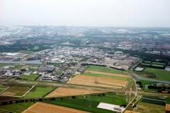 Beverwijk  overzicht Industrie terrein Beverwijk-Oost aanleg tracee A-9 Wijkertunnel 1991 lfh 91082772