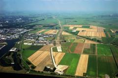 Beverwijk  overzicht Industrie terrein Beverwijk-Oost aanleg tracee A-9 Wijkertunnel 1991 lfh 91082905