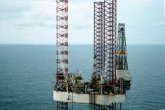 Noorzee bij Ameland M 3-1 Santa Fe Monitor drilling rig 1991 lfh 91101544
