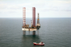 Noorzee bij Ameland M 3-1 Santa Fe Monitor drilling rig 1991 lfh 91101547