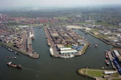 IJmuiden Havens Vissershaven Haringhaven Industrieterrein 1992 LFH 92050451