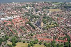 Velsen Overzicht vanaf Heerenduin Zeeweg ziekenhuis Heerenduinweg 1992 LFH 92052624