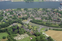 Velsen-Zuid woonwijk kerk brandweerkazerne 1992 LFH 92052628
