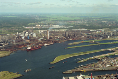 IJmuiden overzicht haven Hoogovens sluizen 1992 lfh 92091429
