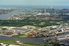 Beverwijk industrie terrein Wijkermeer richting zee 1993