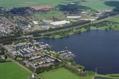 Uitgeest Uitgeestermeer met jachthavens industrie terrein Molenwerf 1994