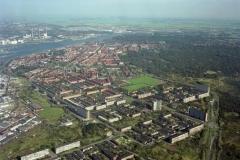 Velsen IJmuiden overzicht vanaf havens/west 1994