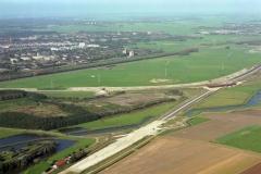Beverwijk Broekpolder bouw rijp maken aanleg A9 1994