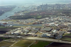Beverwijk Beverwijk-oost industrie terrein aanleg A-9 1995