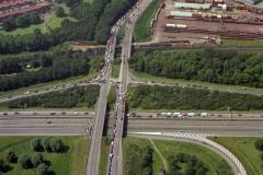Beverwijk A9- verkeers drukte Velsertunnel rotonde 1995 LFH 95061867-036