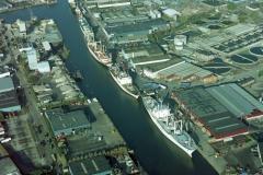 Beverwijk Haven drukte Aardappelschepen 1995 lfh95112033