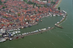 Volendam haven de dijk jachten plezier vaart schepen toerisme 1996 lfh96060378-027