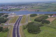 Velsen Beverwijk bouw Wijkertunnel Wijenblick 1996 lfh 96061703-042