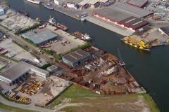 Beverwijk Haven de Pijp met offshore schepen en shore bases 1996 lfh 96082037-082